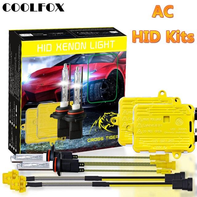 COOLFOX AC 12 V 55 W Xenon żarówki 9006 9005 HB4 HB3 H11 H4 H7 reflektory ksenonowe statecznik hid światła z jednostka zapłonu zestaw 24 V lampa samochodowa