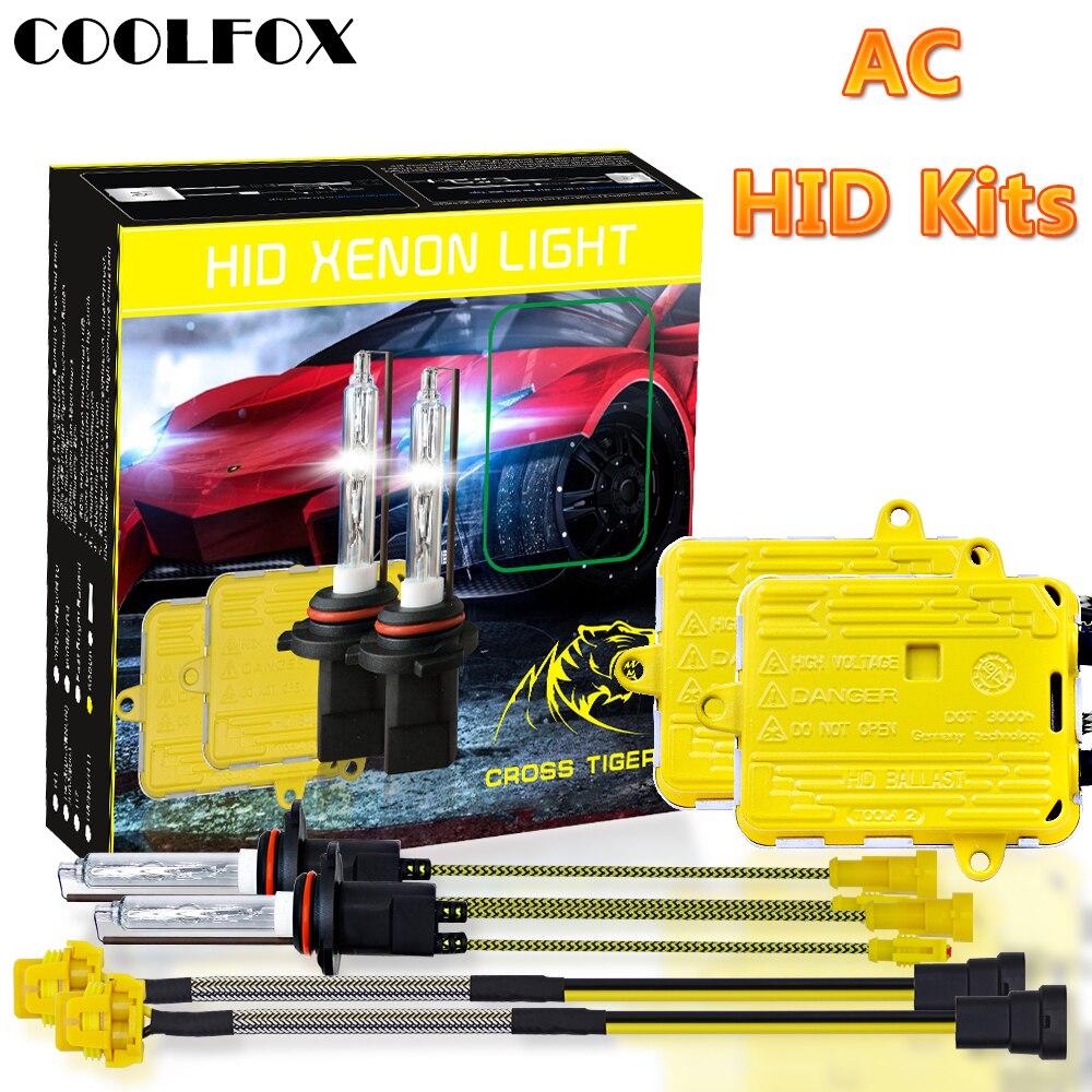 COOLFOX AC 12 V 55 W ampoule xénon 9006 9005 HB4 HB3 H11 H4 H7 phare xénon Ballast HID lumière avec Kit d'allumage 24 V lampe de voiture