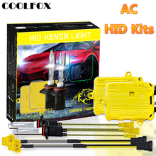 COOLFOX AC 12V 55W Xenon Bulb 9006 9005 HB4 HB3 H11 H4 H7 Xenon Headlight Ballast HID Light With Ignition Unit Kit 24V Car Lamp