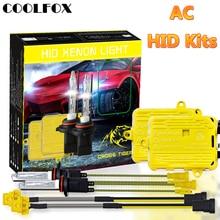 COOLFOX ampoules au xénon AC 12V 55W, 9006 et 9005 HB4 HB3 H11 H4 H7, Ballast caché, Kit de lampe de voiture 24V avec unité dallumage