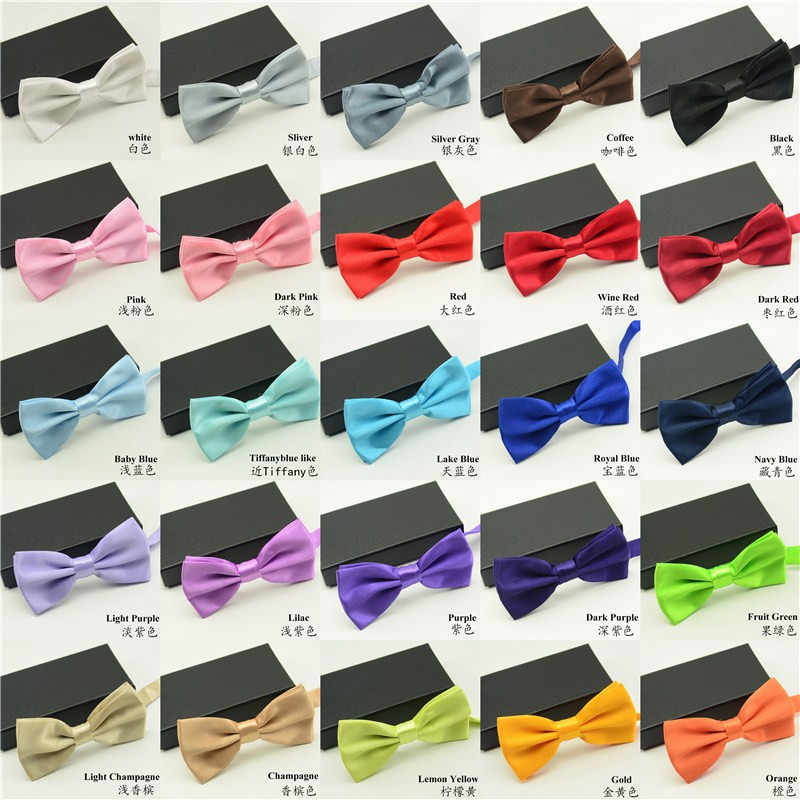 2020 High Quality Mens Solid Bow Ties Fashion Accessories for Wedding suits Groommen Suits 1 Piece Packed