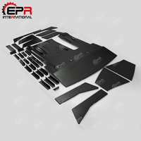 Car styling For Nissan R35 GTR CBA DBA LBV2 Style FRP Fiber Glass Rear Diffuser Kit Fiberglass Bumper Under Panel Set