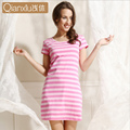 2016 New Hot Sale Gecelik Sleepwear Qianxiu Cotton Nightskirt Girl Summer Sleeepshirts Nightgown Women Short-sleeve Sleepshirts