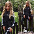 Survetement Femme Marque 2016 New Hoodies Women Casual Cheap Tracksuit O-neck Sportsuit Two Piece Set
