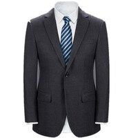 Мужской классический чистый цвет костюмы зерно пряжки свадебный деловой костюм высокого качества смешанный шерстяной костюм