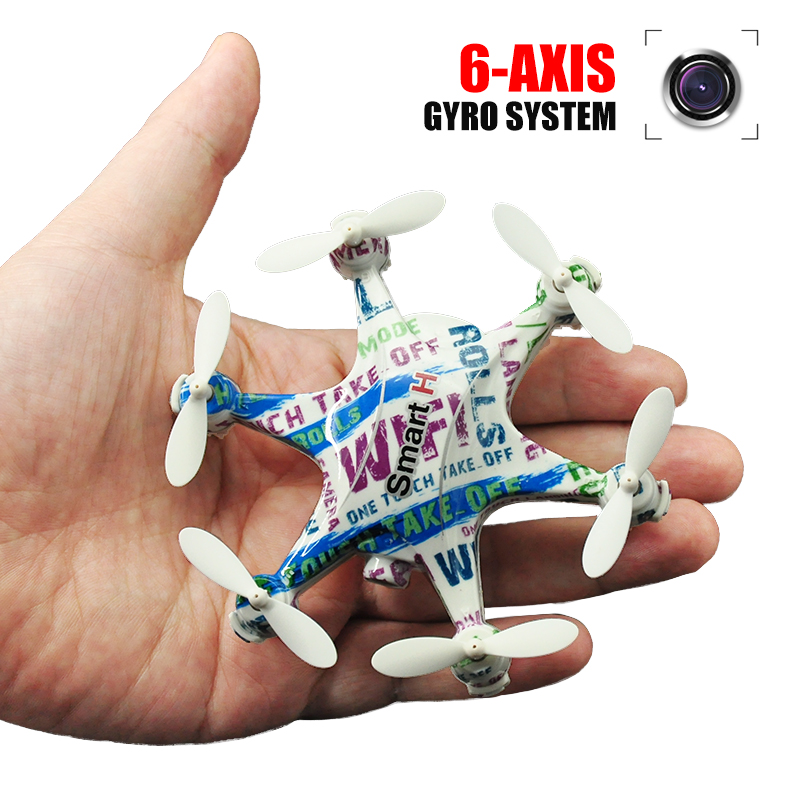 Drone With Camera OR No Camera Wifi Control 6 Axis Gyro 4CH LED Mini RC Drone 360 Degree Rollover A Key Return Toys Helicopters! original jjrc h28 4ch 6 axis gyro removable arms rtf rc quadcopter with one key return headless mode drone