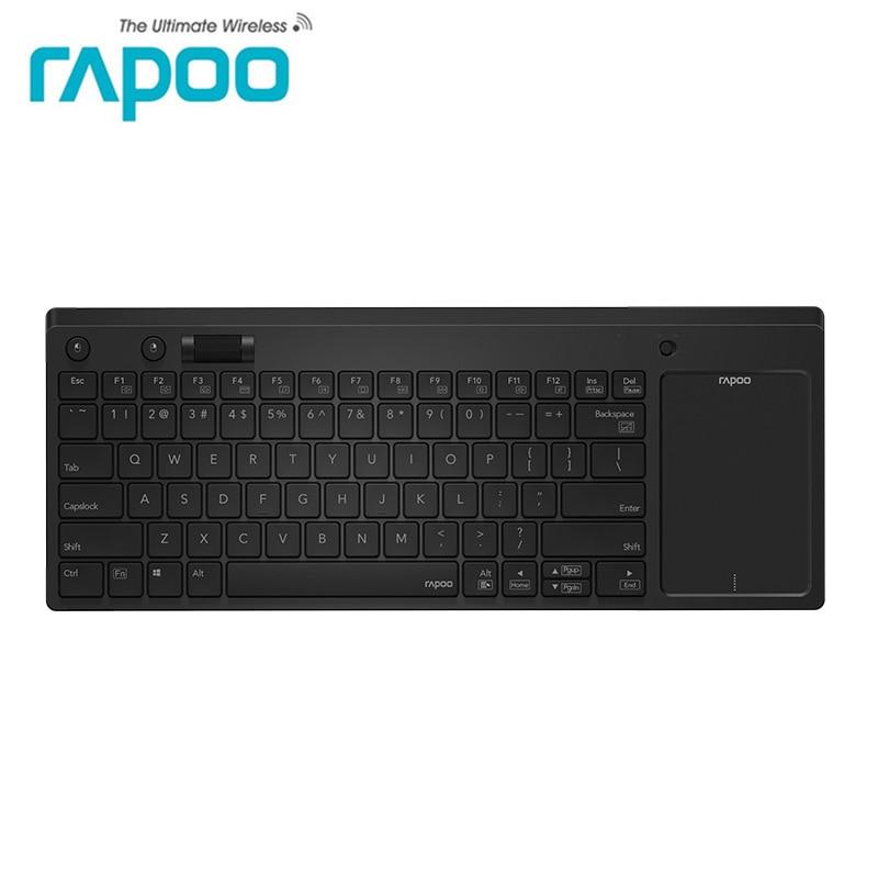 Clavier sans fil Rapoo 2.4G avec pavé tactile et molette de souris indépendante pour Windows PC, ordinateur portable, Smart TV, HTPC IPTV