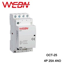 OCT-25 Series AC Household Contactor 220V/230V 50/60Hz 4P 25A 4NO Four Normal Open Contact Din Rail
