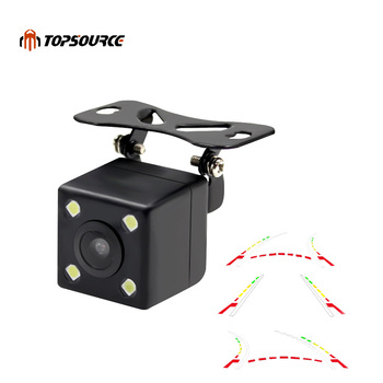 TOPSOURCE Advanced Dynamic Parking Track Car Back Reverse CCD Dynamic Trajactory Rear View Camera 170 Night vision Waterproof