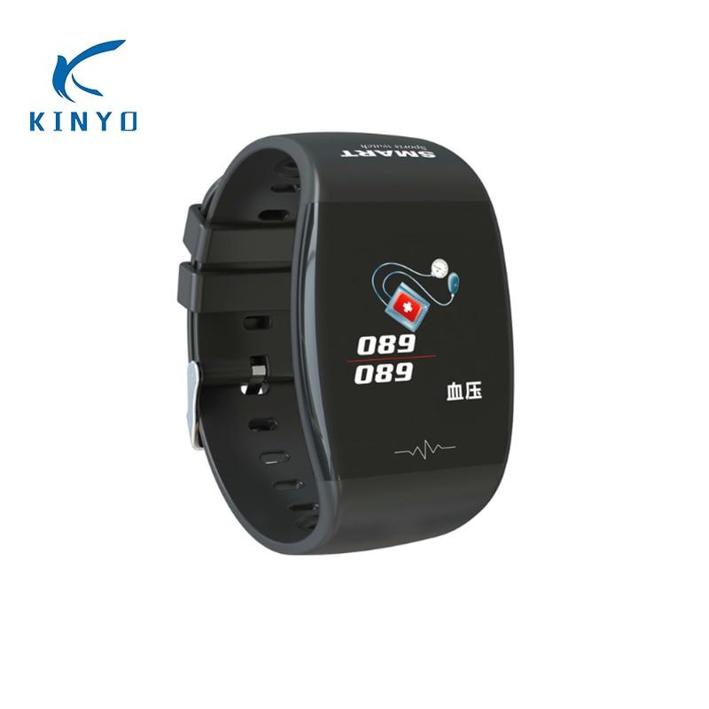 IP67 Waterproof Fitness Bracelet heart rate Smart Band ECG PPG smart wristband men women alarm clock