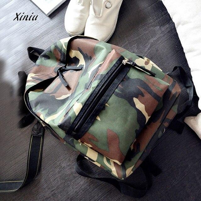 55bbc895bd83 Women Backpack Girls Boys Camouflage Zipper Backpack Student School Bags  Fashion Shoulder Bag Cool Laptop Male Travel Bagpack