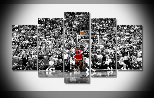 P1027 Michael Jordan Basketball fly air Last Jump Shot Chicago Bulls ...
