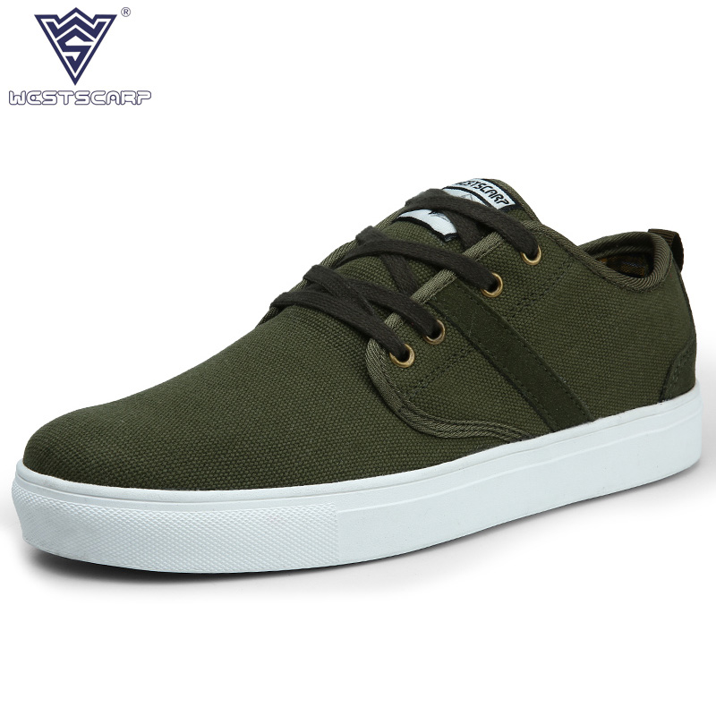 WEST SCARP Mens Casual Shoes Man Flats Spring Autumn Breathable Fashion Classic Men Canvas Shoes Brand Outdoor Zapatos Hombre men shoes men s flats 2017 new spring autumn fashion comfortable canvas men s for man casual shoes zapatillas hombre plus size