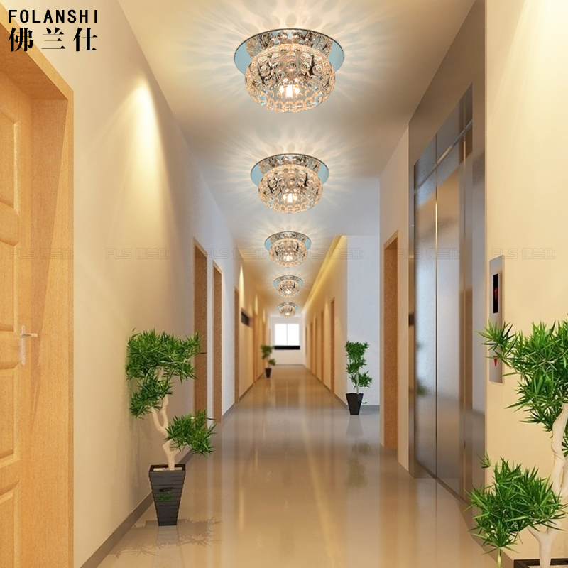 modern entrance hall  creative2017 new  corridor lamp corridor lights LED crystal ceiling lamP lighting ZCL bright colorful led lamp installed inside the entrance hall light corridor lamp ceiling lamp lamp stunning