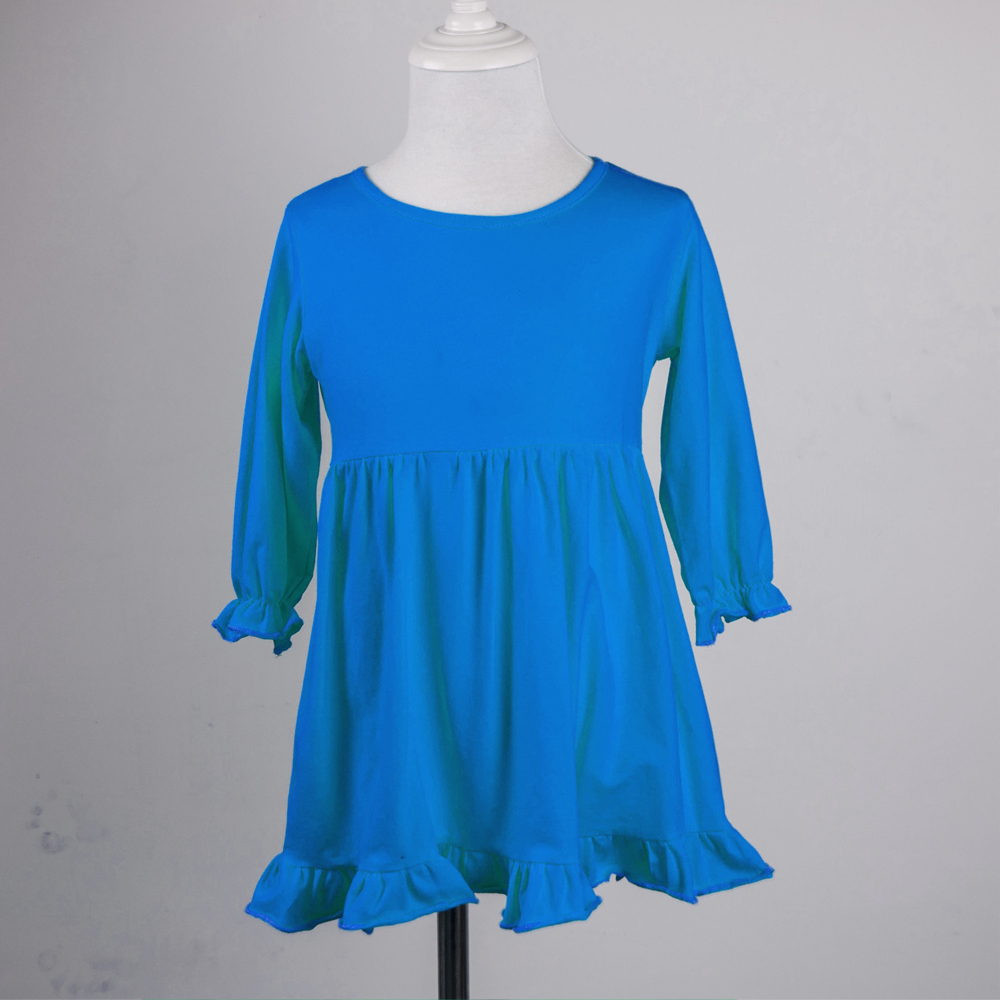 High Quality Cotton Girls Casual Dresses Baby Frocks