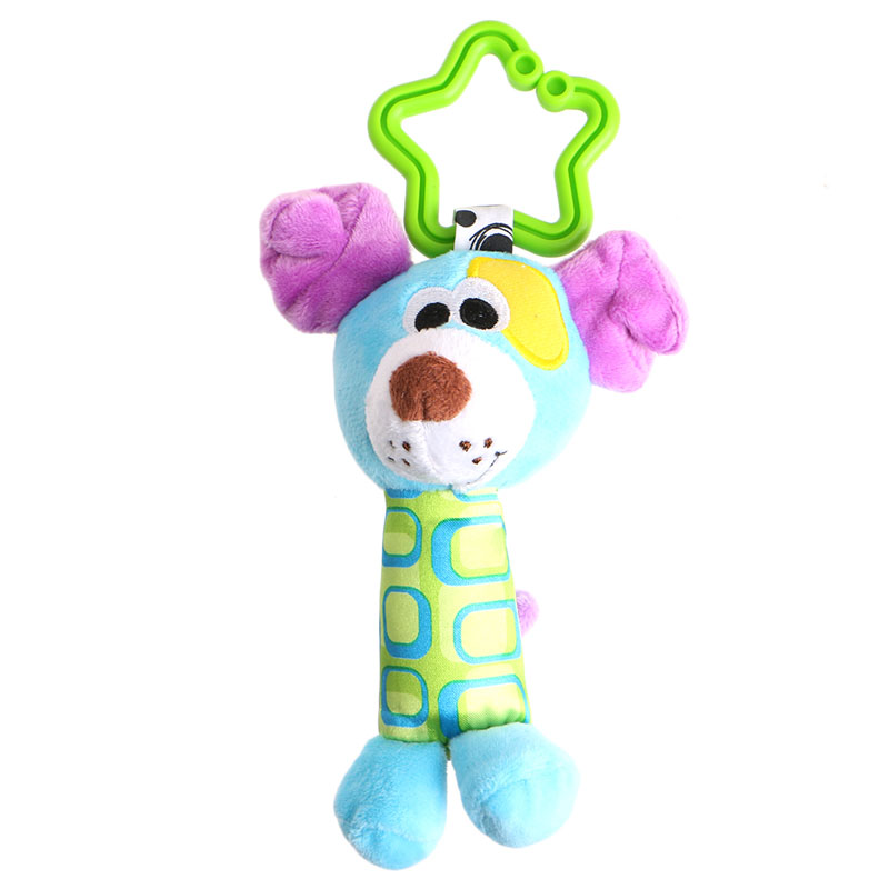 Soft Plush Stroller Hanging Ring Bell Rattle Toys Baby Early Educational Doll