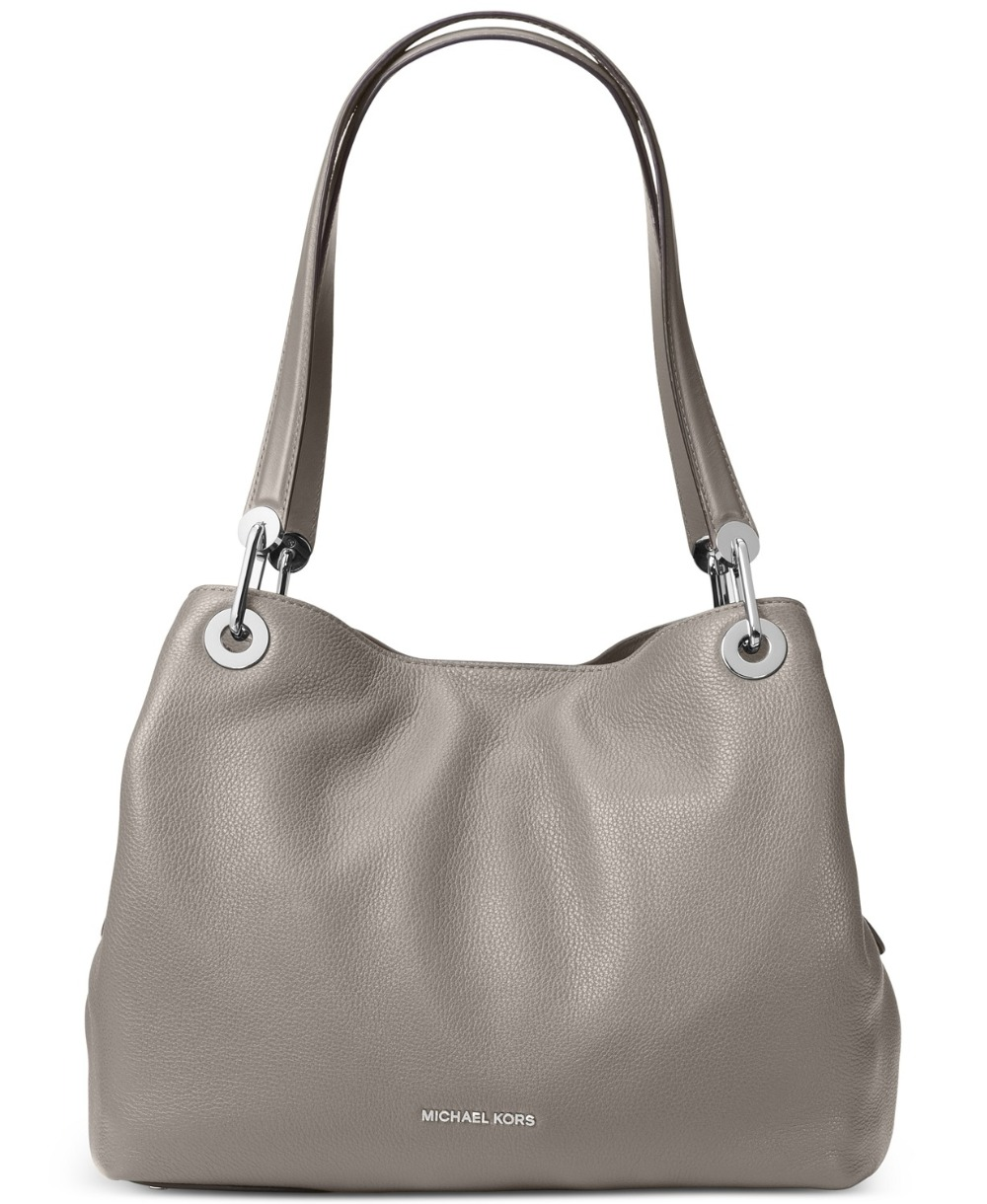 Michael Kors Raven Pebble Leather Shoulder Tote (Pearl Gray/Silver) Luxury  Handbags For Women Bags Designer by MK on Aliexpress.com | Alibaba Group