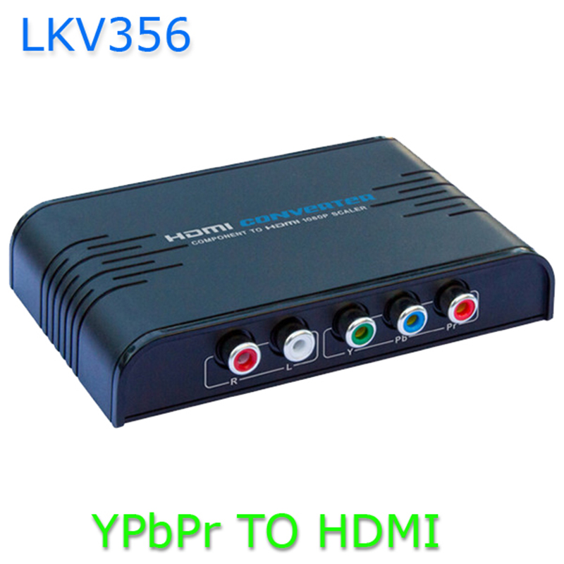 LKV356 1080P Upscaler Converter Component YPbPr to HDMI Audio Video Converter Adapter- 100 - 240V For PSP XBOX HDTV BLACK