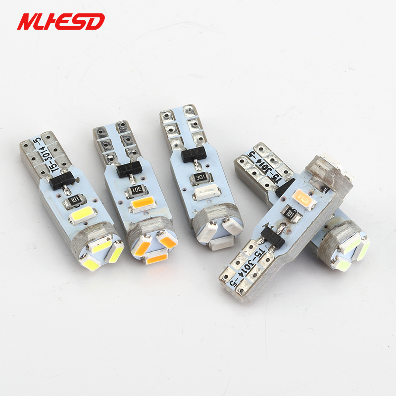2Pcs AC 12V T5 led 5 SMD 3014 LED 5SMD Instrument Panel Speedometer Dashboard Light Bulbs LED white blue red yellow green AC12V