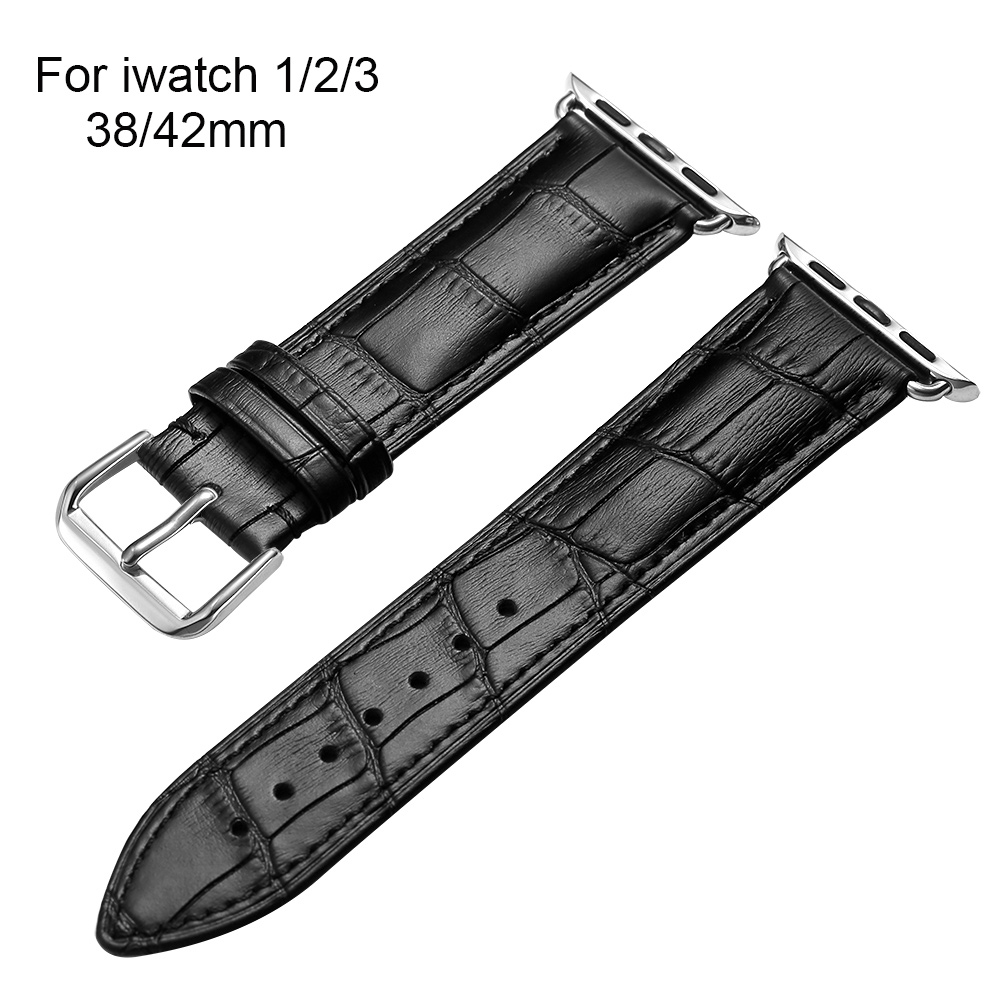 High Quality Genuine leather Watch band Strap For Apple Watch Bands Bracelet 38mm 42mm Series 1 2 3 For iWatch Classic Bands цена и фото