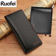 New fashion men Leather Men Wallets Business Brand Card holder Coin Purse Men's Long Zipper Wallet Leather B7