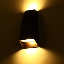 Современная краткое привело вверх и вниз открытый настенный светильник 220 В/110 В простой водонепроницаемый бра настенные вилла вел коридор огни