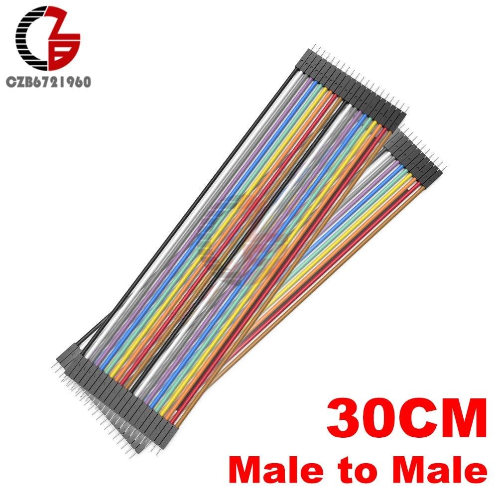 40 Pin Dupont кабель 10 см 20 см 30 см мужчин и женщин Dupont линия макет Jmper разъем провода для Arduino DIY - Цвет: 30CM Male-Male