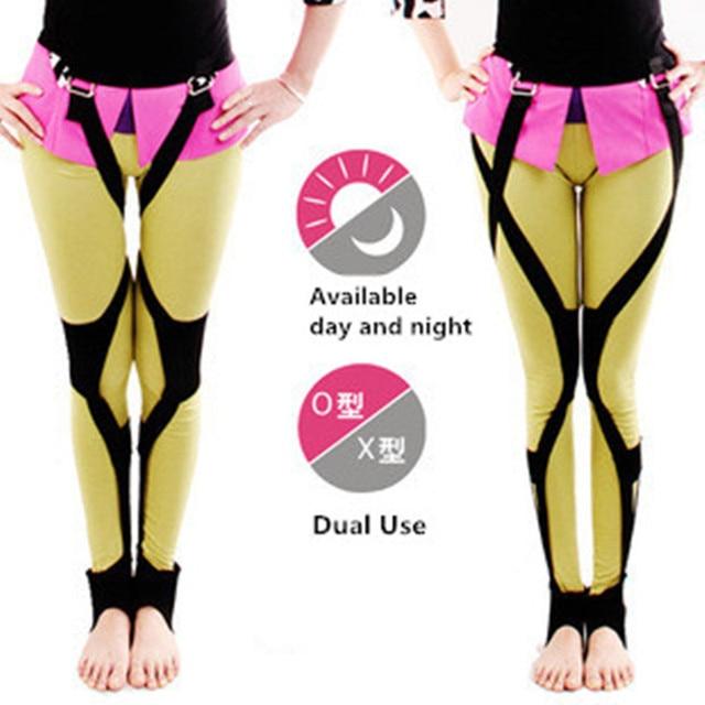 Podwójny tryb O/x type noga korekta łuk nogi legginsy Hip O noga ortezy korektor opieka zdrowotna dzień i noc użyj JZ003