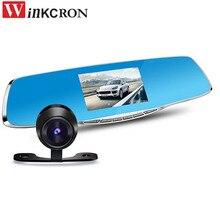 "Winkcron 4.3 ""FHD 1080 P Видеорегистраторы для автомобилей Камера два объектива Камера отзыв зеркало цифрового видео Регистраторы Авто навигатор регистратор Камера"
