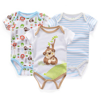 Baby Clothing 3pcs Set Newborn Costume Body Baby Rompers Triangle Onesie Infantil Jumpsuit New Born Baby