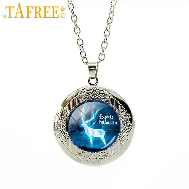 TAFREE Blue Deer Pendant Necklace Attractive Locket Necklaces Statement Animal Pendants Women Men Christmas Gifts Jewelry N384