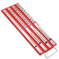 80Pc Socket Tray Rack 1/4 inch, 3/8 inch, 1/2 inch Inch Snap Rail Tool Set Organizer