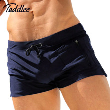 Taddlee Model Man Males Swimwear Boxer Trunks Swimsuits Mens Swim Boxer Shorts Surf Board Shorts Plus Europe Measurement Swimming Put on