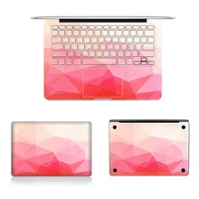 Top Bottom&Keyboard Side Stickers Laptop Full Vinyl Decal Gradiant Pink Skins For Macbook Air Retina Pro 11″12″13″15″