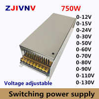 750w Switching Power Supply adjustable output voltage0-12V 15V 24V 36V 48V 50V 60V 72V 80V 110V 130V AC-DC SMPS 15V 50A
