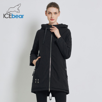 ICEbear 2019 High Quality New Women's Autumn Coat Fashion Female Coats Hooded Women's Clothing Women's Brand Jacket  GWC19028I