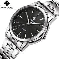 WWOOR Brand Luxury Men Waterproof Stainless Steel Business Quartz Watches Men S Sport Casual Wrist Watch