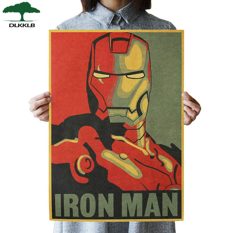Vintage Poster Cartoon Posters Hollywood Movie Retro Kraft Paper Adornment College Decorative Paintings Posters Wall Sticker