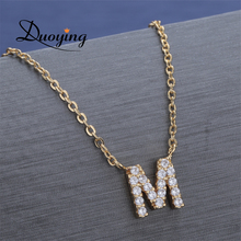 Duoying 2019 Zirconia necklace lady stone initial necklace women gift Dropshipping