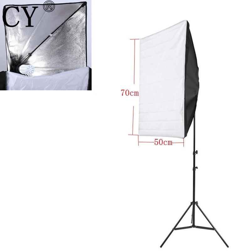 CY Pro New E27 40W LED Light Portable 50cm x 70cm Photo Studio Softbox With Studio Photography 200cm Light Stand Kit