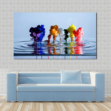 JQHYART Canvas Oil Painting Moder Home Decor Picture Colorful Water Ballet Wall Pictures For Living Room No Frame