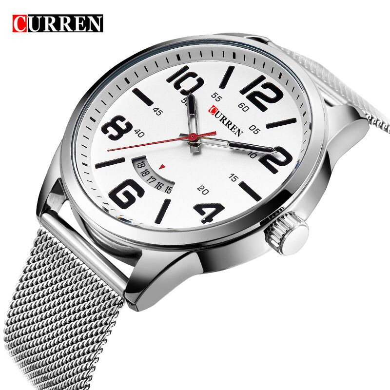 Curren Watches Men Top Brand Luxury Stainless Steel Quartz-Watch Sports Men's Watches Waterproof Relogio Masculino reloj hombre new relogio masculino gold top luxury brand business casual quartz watch men stainless steel military watches reloj hombre hot