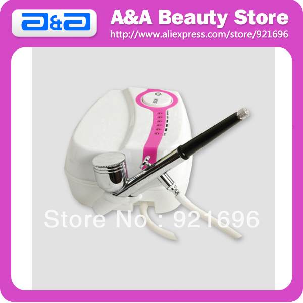 ФОТО FREE SHIPPING Makeup Airbrush Kit 1pc Mini Air Compressor+1pc Nozzle Dia.:0.3 0.5mm Cup:7CC CE & FCC Certified!