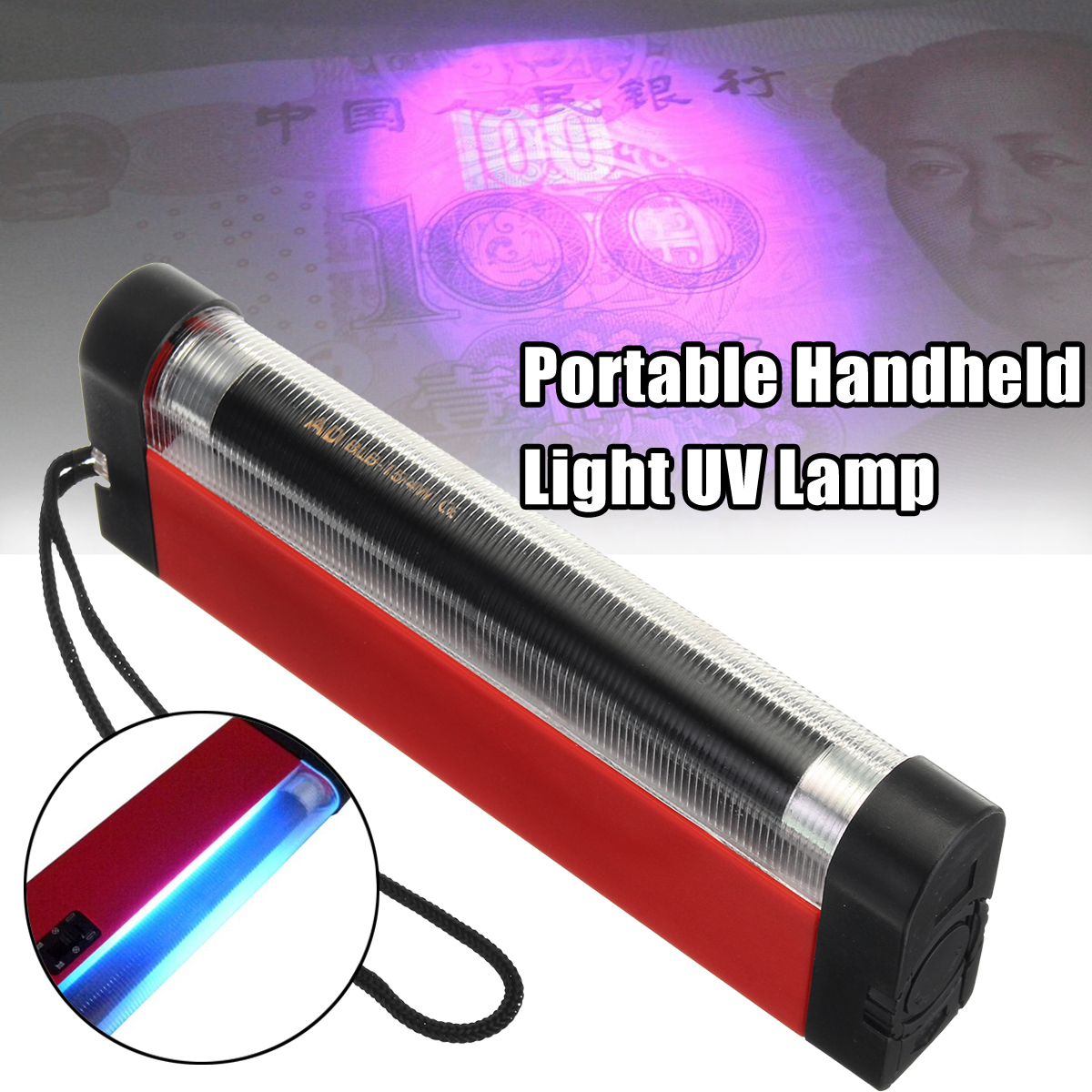 New Portable Handheld Wood's Light UV Lamp 4W for Skin Care Diagnosis Torch Light Flashlight