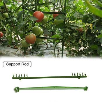 Expansible enrejado conectores de conexión varilla de soporte de jardinería, bolsa de plástico de tubo, pepino, tomate vid trepadora apoyo conjunto de varillas