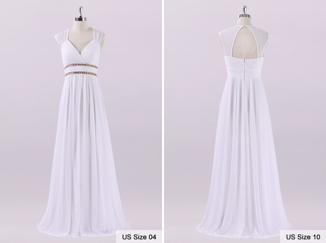 Ever Pretty Beach Wedding Dresses 2019 New A-Line Lace Beading Chiffon Plus Size Wedding Bridal Gowns Under 50 Vestido De Noiva
