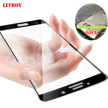 LITBOY 9H Tempered Glass For Samsung Galaxy J3 J5 J7 A3 A5 A7 2017 Full Screen Protector Film For Samsung S7 A8 2018 Glass