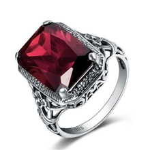 925 Sliver Sterling Ruby Diamond Ring for Women Anillos De Jade Bizuteria Gemstone Jewelry Fine of Diamante