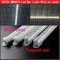 5pcs/lot 0.5m 50cm SMD 4014 LED Bar light Hard Rigid light Transparent/Milky PC cover DC12V