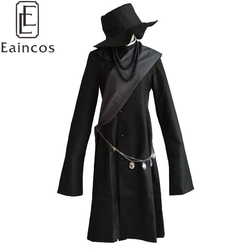 Black Butler Kuroshitsuji Undertaker Cosplay Halloween Party Costume Full Set Customized Size